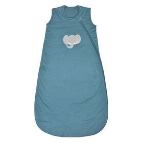 Sac de nuit en tricot matelassé - Éléphant bleu, 6-18 Mois Perlimpinpin.