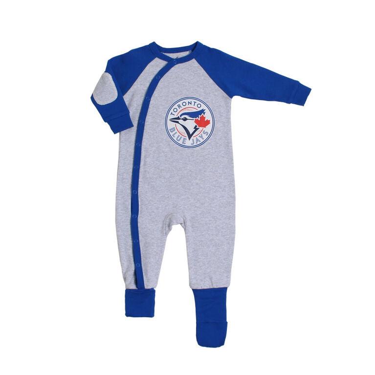 hot sale online 9ea85 b4733 Snugabye Toronto Blue Jays Grey Infant Sleeper 18-24 Months