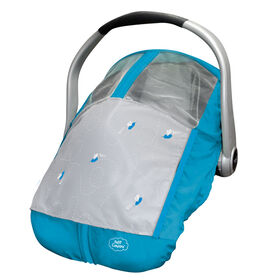 Petit Coulou Summer Car Seat Cover – Blue/Grey