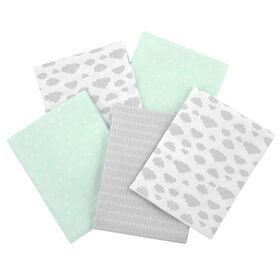 Gerber 5-Pack Green Flannel Receiving Blankets