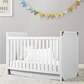 Baby Relax Miles 2-in-1 Convertible Crib - White