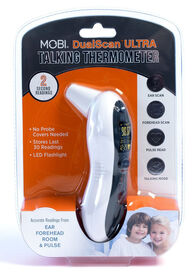 MOBI DualScan Ultra-Pulse Ear & Forehead Thermometer