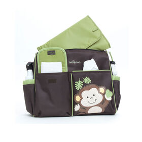Baby Boom Monkey Duffle Diaper Bag - Brown/Green