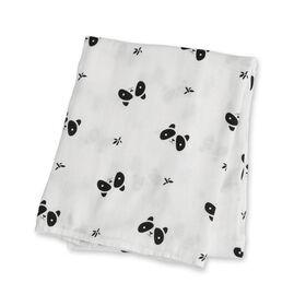 Lulujo Bamboo Muslin Swaddle Blanket - Panda  Lulujo Bamboo Muslin Swaddle Blanket - Panda