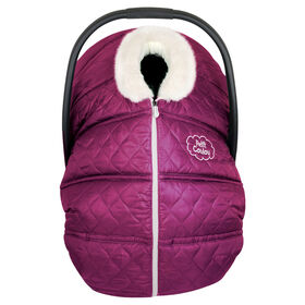 Petit Coulou Winter car seat cover - Burgundy/Ivory