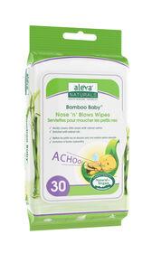 Aleva Naturals Bamboo Baby Nose n Blows Wipes 30ct
