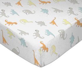 Lolli by Lolli Living Fitted Sheet - Dino Land||Lolli by Lolli Living Fitted Sheet - Dino Land