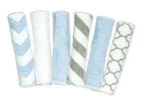 Kushies Washcloths 6-Pack - Blue