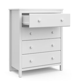 Storkcraft Alpine 4 Drawer Dresser - White.