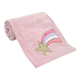 Bedtime Originals - Rainbow Unicorn Baby Blanket - Pink