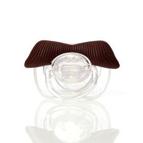 Mustachifier - The Ladies Man Mustache Pacifier, Brown