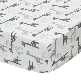 The Peanutshell Uptown Giraffe Cotton Fitted Crib Sheet