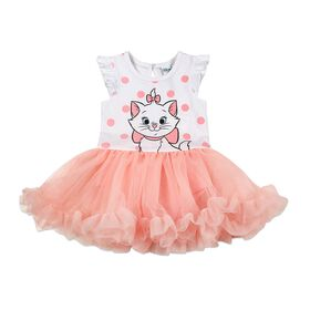 Disney Marie Cat Cupcake Dress - Coral, 3 Months