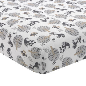 Bedtime Originals - Little Rascals Fitted Crib Sheet - Gray||Bedtime Originals - Little Rascals Fitted Crib Sheet - Gray