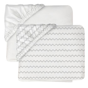 Koala Baby Jersey Contour Fitted Bassinet Sheets