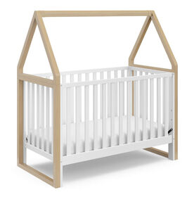 Storkcraft Orchard 5-in-1 Convertible Crib - White/Driftwood.