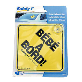Safety 1st Baby On Board Sign - French
