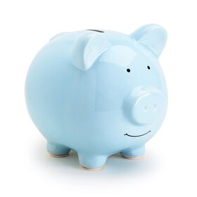Pearhead Ceramic Piggy Bank - Blue