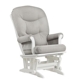Dutailier Sleigh Glider - White/Light Grey