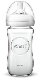 Philips Avent Natural Glass Baby Bottle, 8oz, 1-Pack
