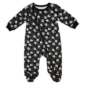 Disney Mickey Mouse 1-Piece Sleeper - Black, 9 Months