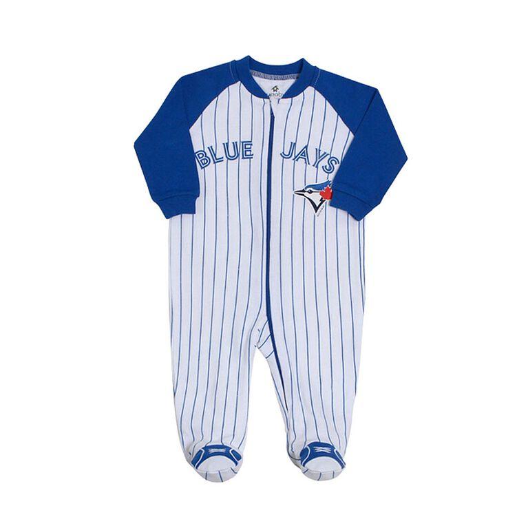 brand new 288d6 6aeeb Snugabye Toronto Blue Jays Pinstripe Infant Sleeper 0-3 Months