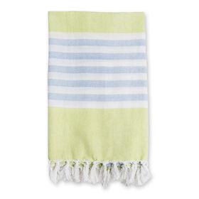 Lulujo Turkish Towel -  Lime Green & Blue