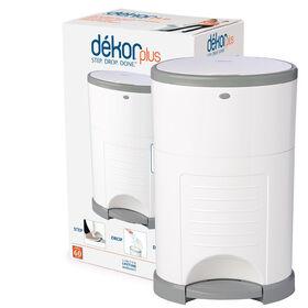 Diaper Dekor Plus Diaper Pail – White