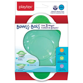 Playtex Baby BPA-Free 3-In-1 Plate For Kids, 4 Months+, Includes Plate & Plate Cover - Green