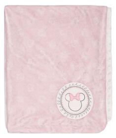 Couverture ultra peluche pour bébé de Minnie Mouse.