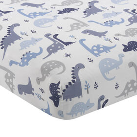 Bedtime Originals - Roar Crib Fitted Sheet - Blue