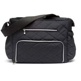 Ryco Motto Diamond Quilted Tote Diaper Bag - Black