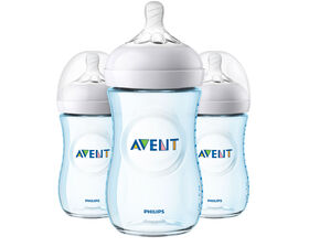 Philips Avent Natural Baby Bottle 9oz 3-Pack - Blue