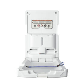 Foundations® Vertical Surface Mount Baby Changing Station (EZ™ Mount Backer Plate Included)||Foundations® Vertical Surface Mount Baby Changing Station (EZ™ Mount Backer Plate Included)
