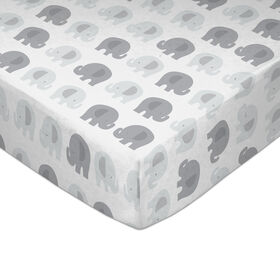 Lolli by Lolli Living Fitted Sheet - Bailey Elephant