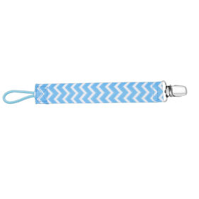 Dr. Brown's Pacifier/Soother Clip - Blue Chevron.