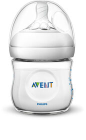 Philips Avent Natural Baby Bottle, 4oz, 1-Pack - Clear