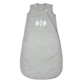 Sac de nuit en tricot matelassé - Feuilles grises, 6-18 Mois Perlimpinpin.