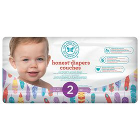 Honest Diapers Size 2 Painted Feathers