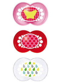 MAM Trends 6+ Pacifiers, Triple Pack Combination - Pink