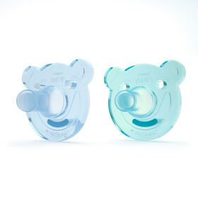 Philips AVENT Soothie - Bear, 0-3 Months, 2-Pack, Green/Blue
