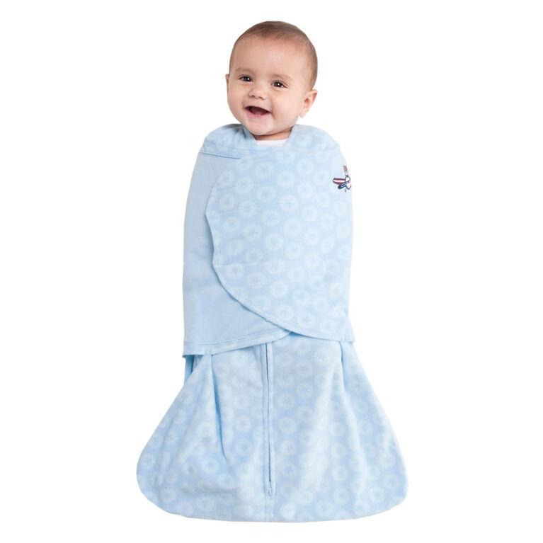 reputable site a54fa 3bfe6 Halo SleepSack Swaddle - Blue Aviator - Micro-Fleece - Newborn