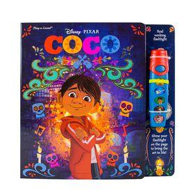 Livre d'aventures lampe de poche lumineuse de Disney Pixar Coco.