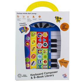 Baby Einstein Keyboard Composer & 8 Book Library (Clavier musical et huit livres cartonnés de Baby Einstein)