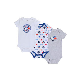 Snugabye Toronto Blue Jays 3 Piece Infant Bodysuit Set 12-18 Months