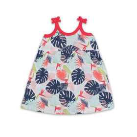 Snugabye Sleeveless Skirted Romper - Leaf - White, 0-3 Months