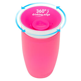 Munchkin's BPA Free 2-Pack 10 Ounce Miracle 360 Degree Cup - Pink