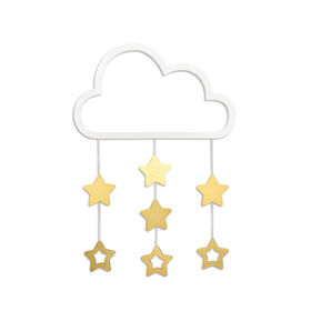 The Peanutshell Cloud and Stars Wall Hanging||The Peanutshell Cloud and Stars Wall Hanging