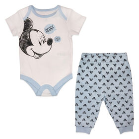 Disney Mickey Mouse 2-Piece Pant Set - Blue, 9 Months