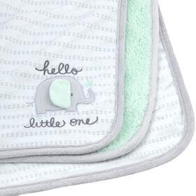 Gerber 2-Ply Plush Appliqued Blanket, Grey Elephant